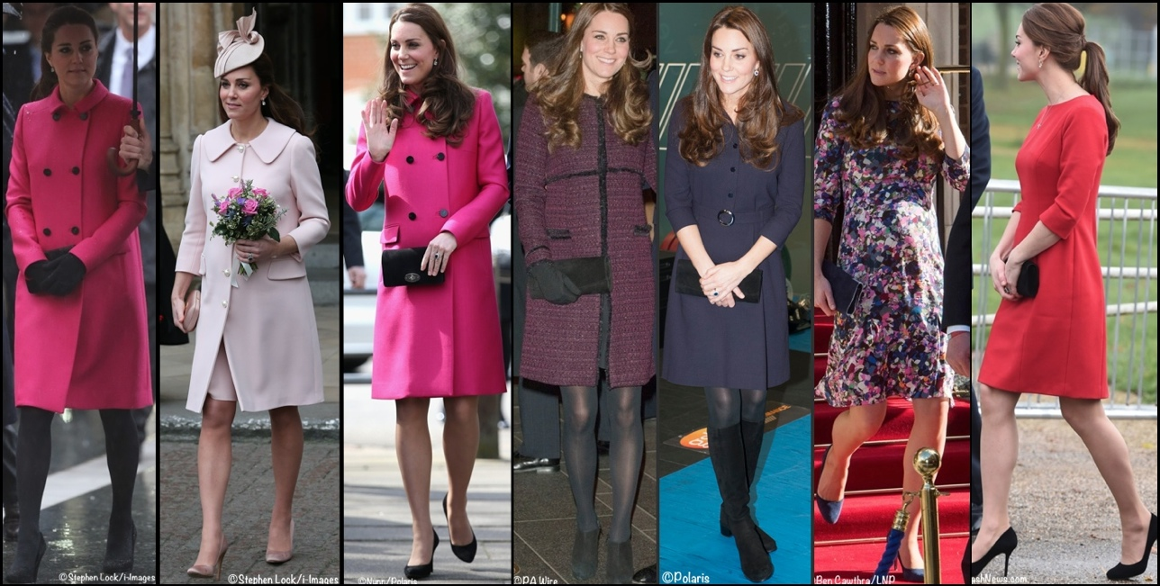 Kate Pregnancy Maternity Wardrobe Wrapup Pinks and Wine