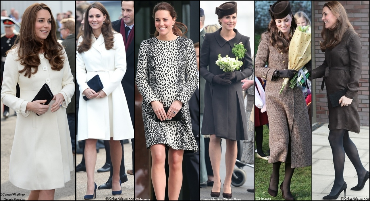 Kate Pregnancy Wardrobe Wrapup Maternity Styles Ivoryand Brown shades