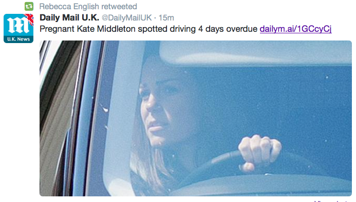 Kate middleton driving