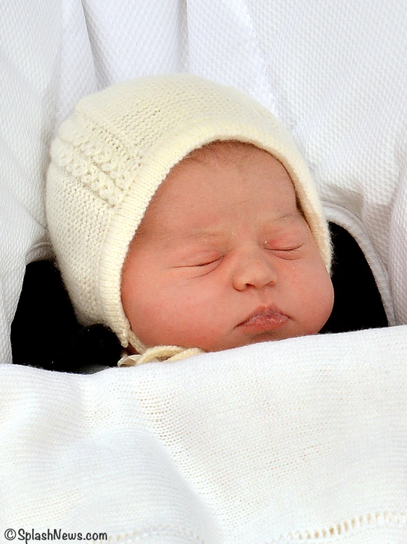 princess Charlotte Leaving Hospital