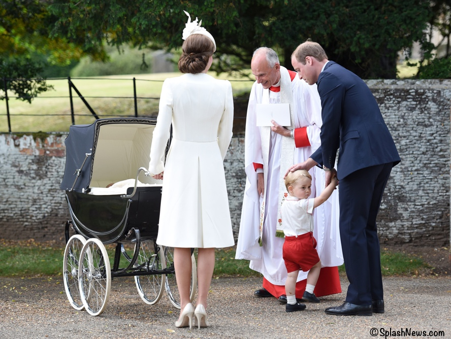 Kate Middleton Prince William George Charlotte Christening
