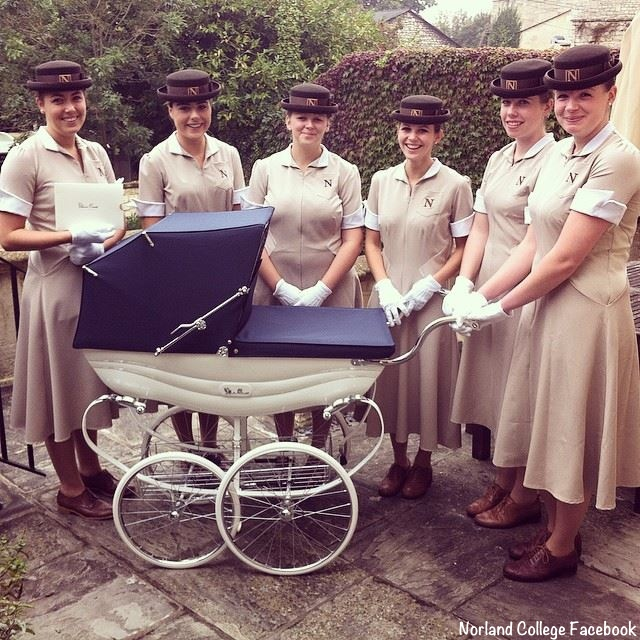 Norland Nannies in uniform College Facebook Page