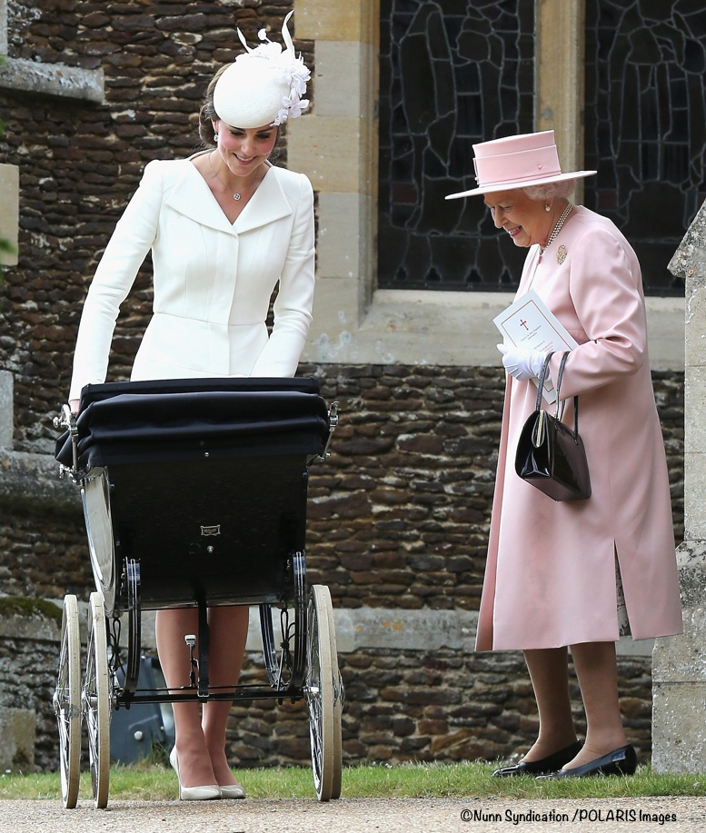 Royal family attends Princess Charlotte christening