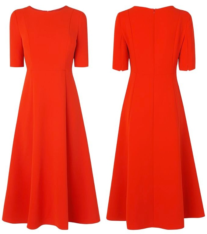 LK Bennett Cayla Dress Red Wimbledon july 8 2015 Front Back Produc 700 x 770