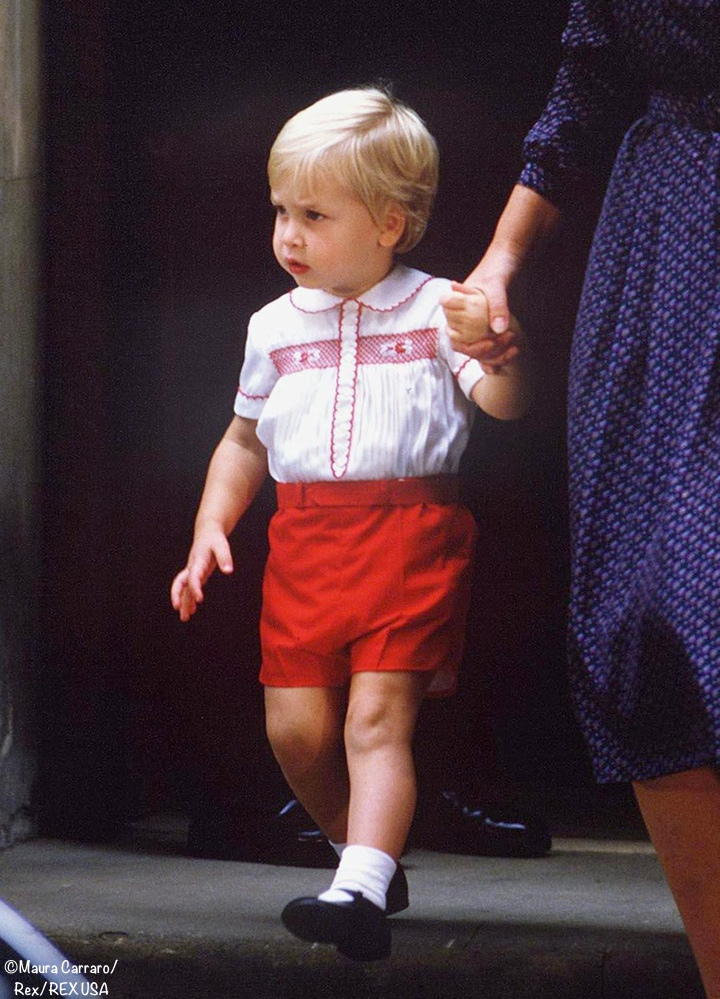 Prince William Red Smocked Suit Set Shorts