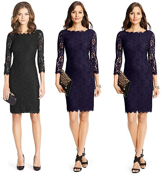 Diane von Furstenberg Zarita Lace Dress Knee Length version