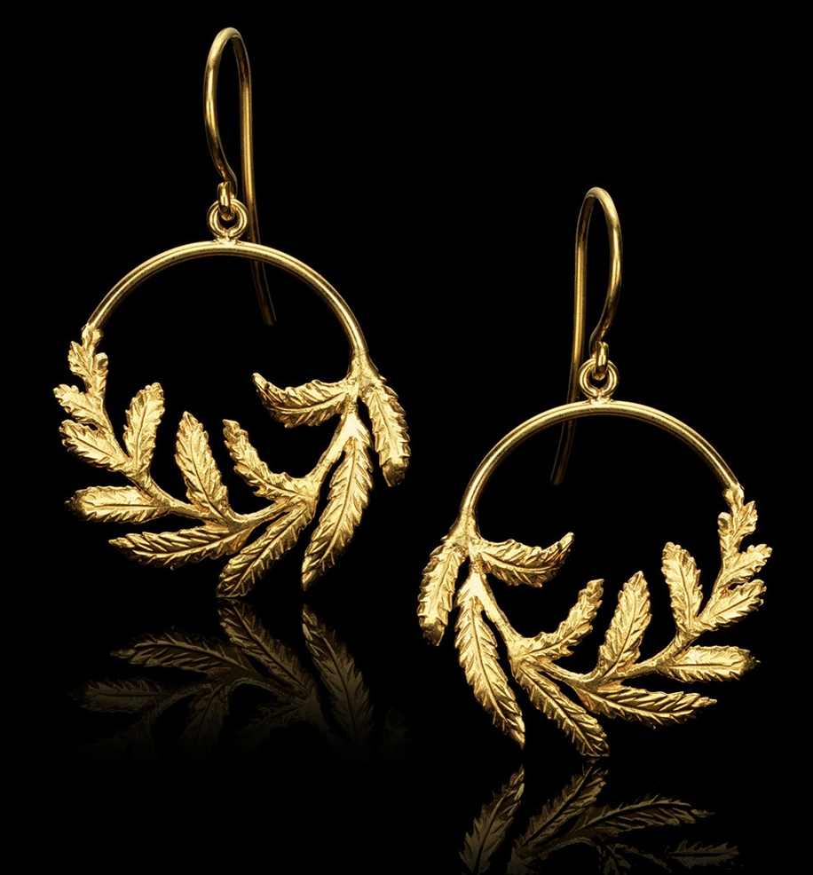 Catherine Zoraida Kate Middleton Fern Rugby Match earrings