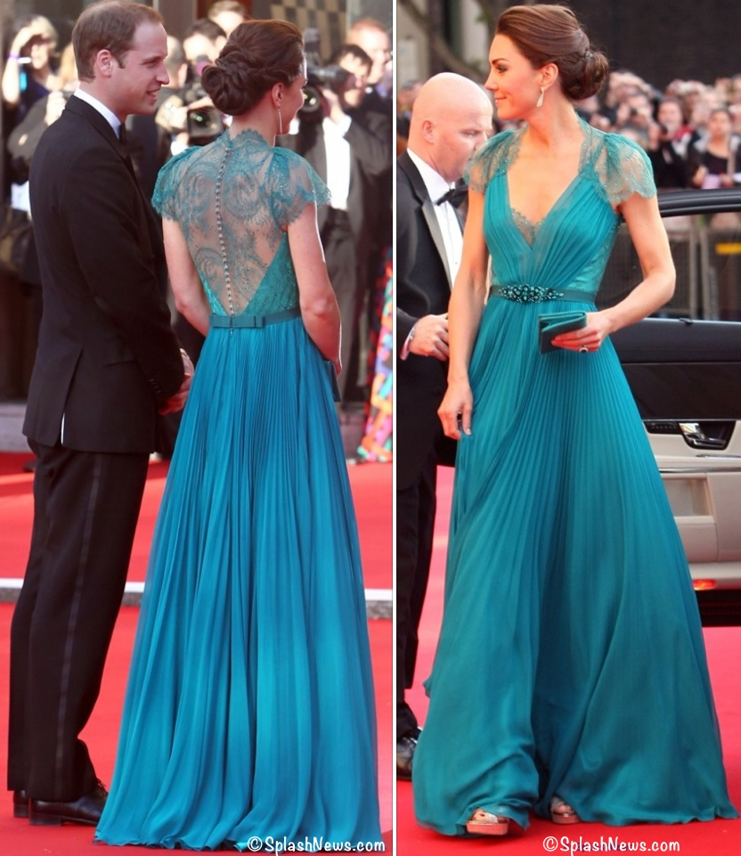 Kate teal Jenny packham Evening Gown