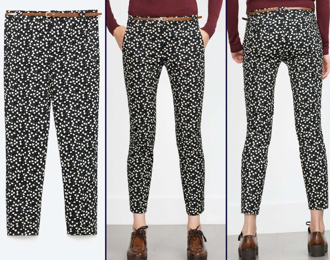 Kate Middleton Zara Floral Flower Print Trousers Pants Rugby Match