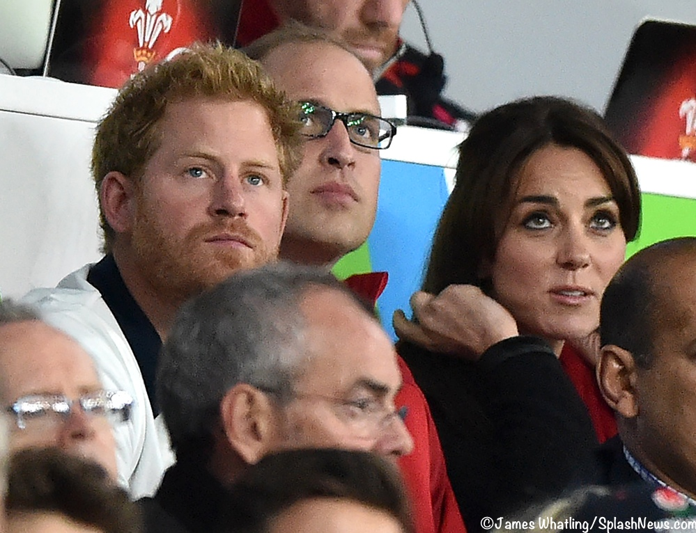 Harry William Kate Middleton Watch Rugby