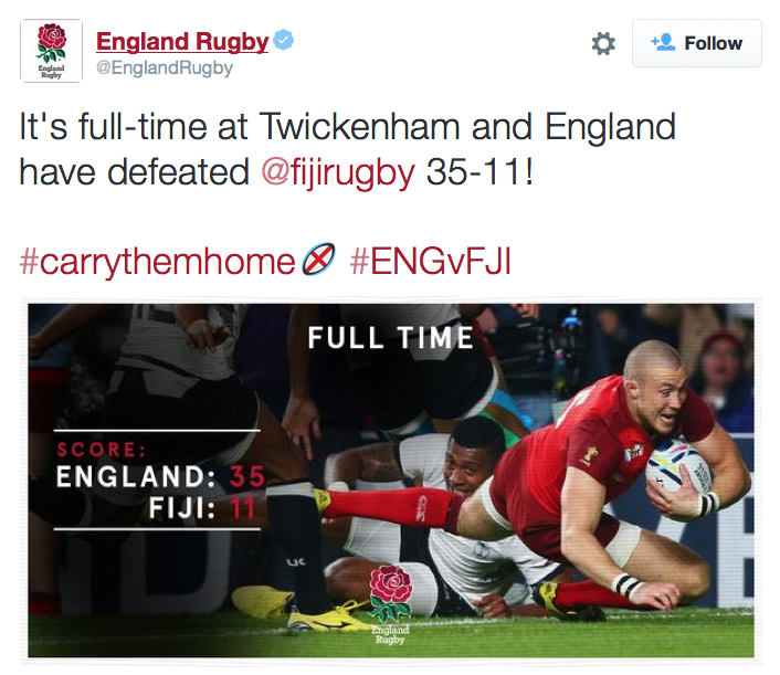 England Rugby Twitter