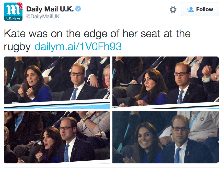 Kate Middleton's facial expressions rugby