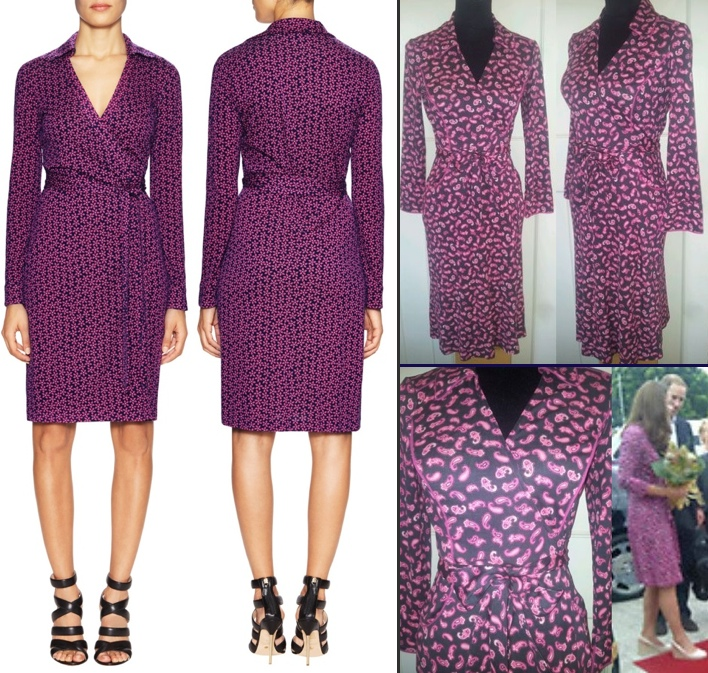 For DVF Purple Pink Duenne Dress Dating Back to 2005 DVF Diane von Furstenberg Jeanne Black Pink Wrap Dress Gilt Feb 25 2016