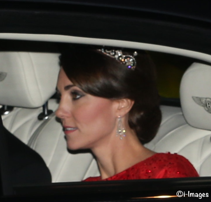 the duchess shines in jenny packham lotus flower tiara