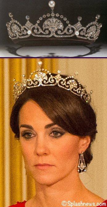 The Duchess Shines In Jenny Packham Lotus Flower Tiara And