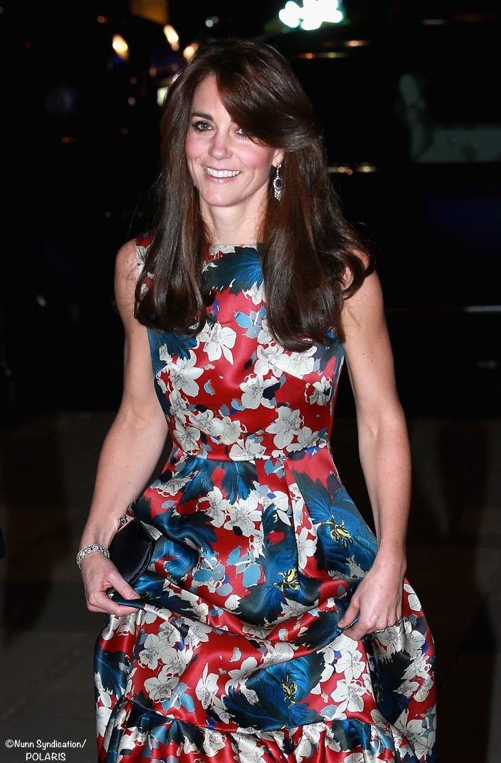 Kate Middleton 100 Women Hedge Funds Erdem Alouette Evening Gown