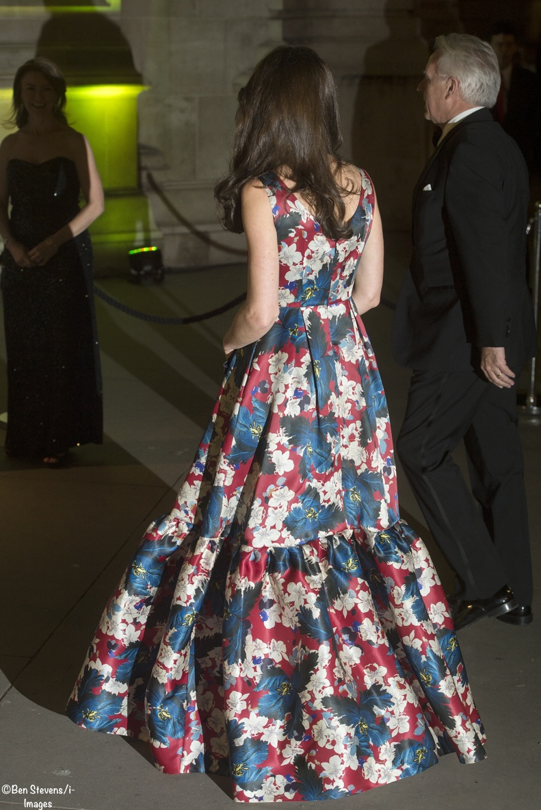 back view Kate Middleton Erdem Alouette Evening Gown