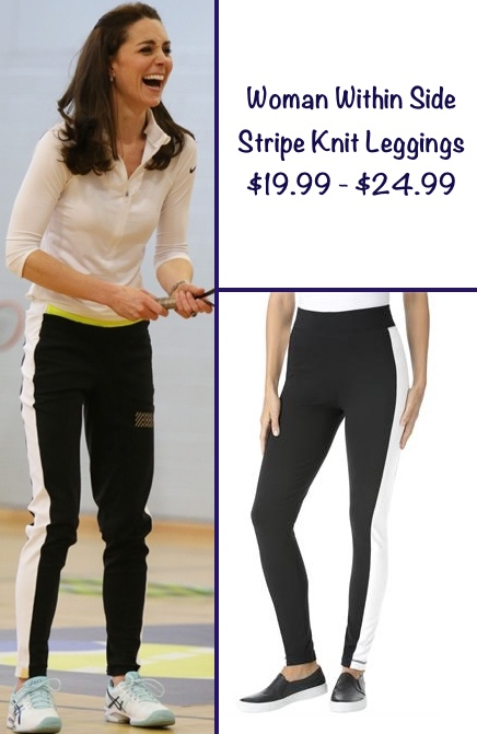 Kate RepliKate for Monrelal London Worn Edinburgh Judy Murray Tennis Feb 24 2016 Track Pants Woman Wihtin Side Stripe Leggings Suggested by Patty Malecke
