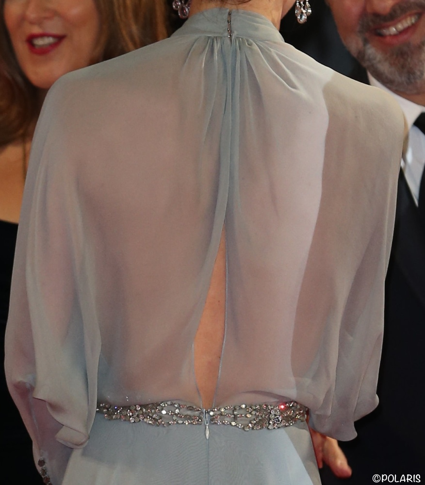 Kate Middleton evening gown James Bond Spectre premiere