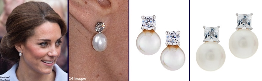 c411e7cb1 OCT 5: For Kate's Balenciaga earrings we offer the Simulated Pearl Clips by  Bling Jewelry ($22.99) as shown at Amazon; on the far right, the Givenchy  ...