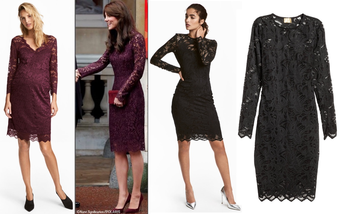 9809940bec4e Also at H&M, a so-so repliKate for the black Lace Dolce & Gabbana frock;  the Lace Dress in black is also $49.99.