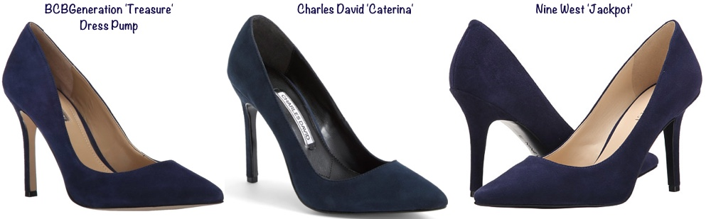 RepliKate Navy Suede Pumps Heels BCBG Generation Treasure Nine 9 West Jackpot Charles David Caterina June 29 2016