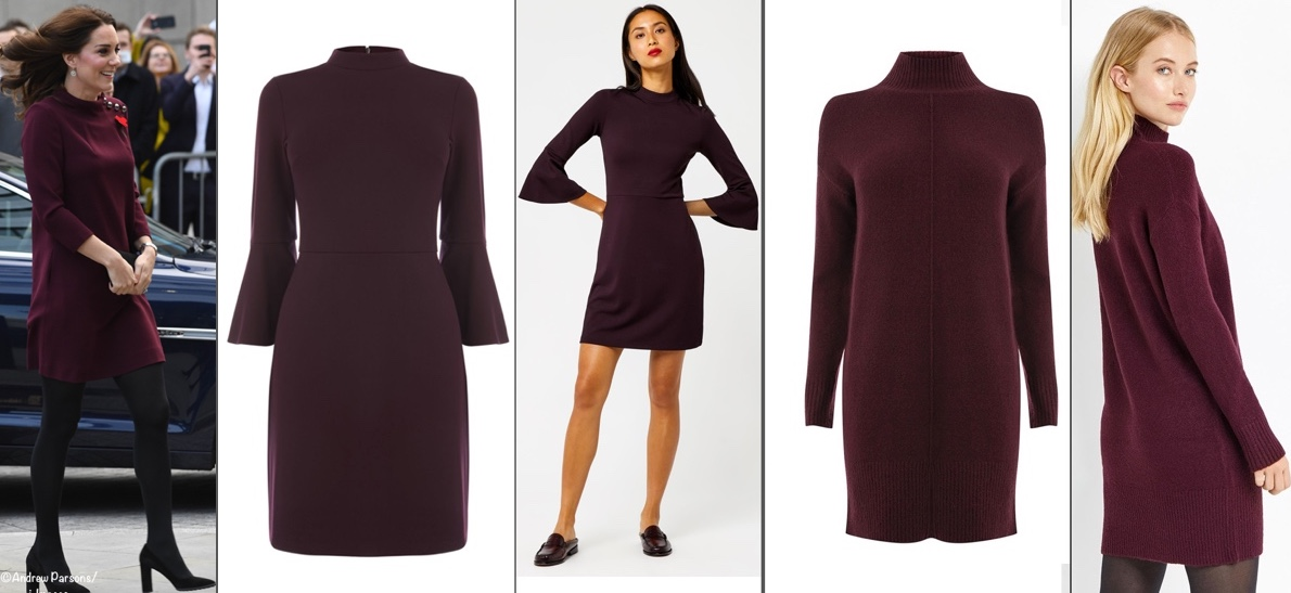 eebd6609ebd NOV 8  We have a maternity option for the Dolce   Gabbana dress  this is  the MAMA Lace Dress in burgundy ( 49.99) as shown at H M.