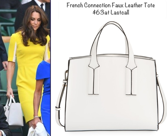RepliKate Victoria Beckham White Quincy Tote Last Call French Connection May 30 2017