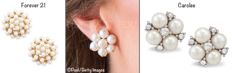 d5a90ae12 ... we show the Forever 21 Faux Pearl Cluster Stud Earrings ($4.99); on the  right, the Carolee Small Cluster Earrings ($28.50) as shown at Macy's.