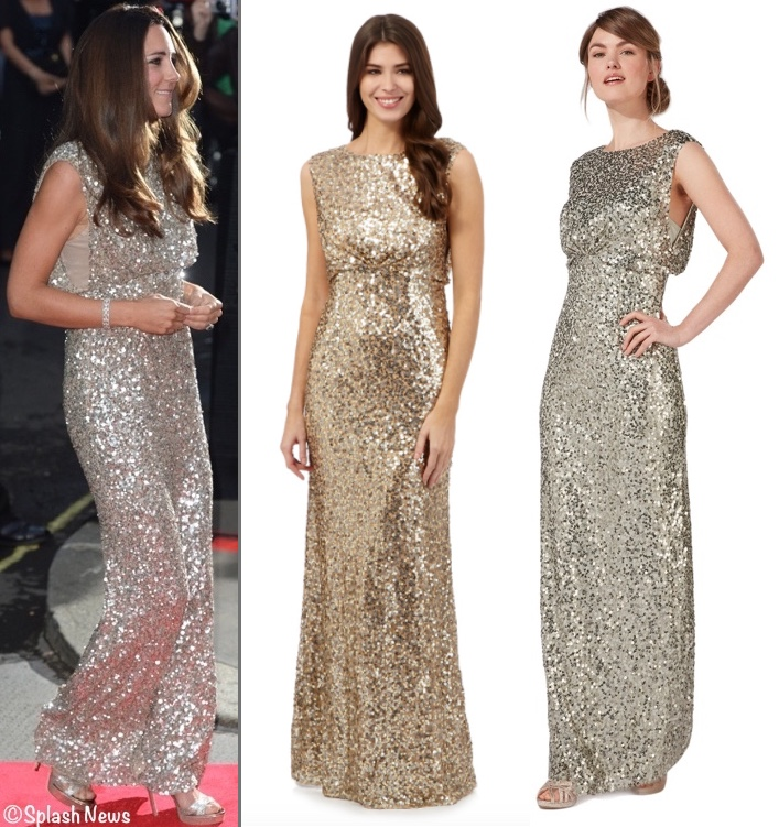 RepliKate for Packham Gold Sequin Evening Gown Two 2 Debenhams Packham Dresses
