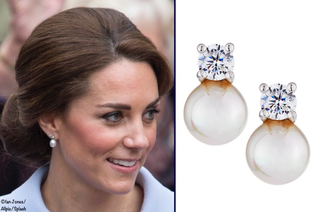 Replikate For Queen S Pearl Earrings With Diamond Stud Oct 2