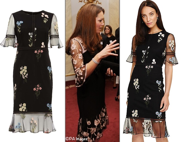 a5032447716 ... Buckingham Palace, this is the Ditsy Embroidered Dress ($250) as shown  at Phase Eight. Many thanks to Sophia of Regal RepliKate for such a great  find!