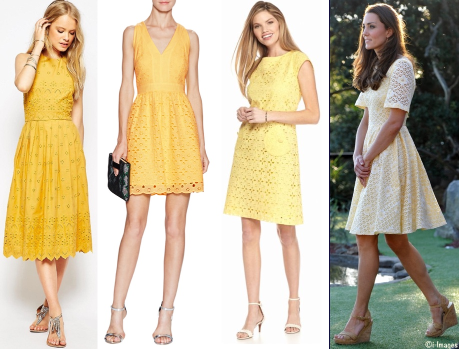RepliKates 4 Yellow Eyelet Broderie Anglaise Dresses April 26 2016
