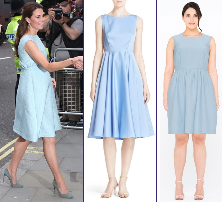 RepliKates for Emilia Wickstead Icy Blue Sleeveless Maternity Dress Jan 24 2017