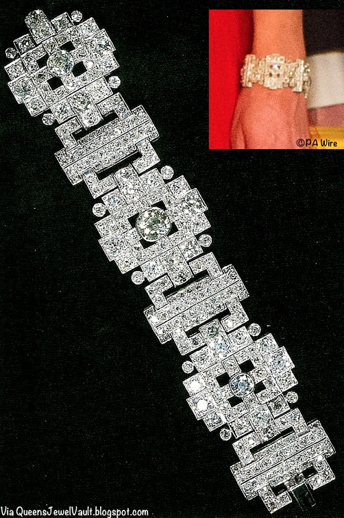 The Wedding Gift Bracelet via Queens Jewel Vault with Kate's Wrist Inset PA
