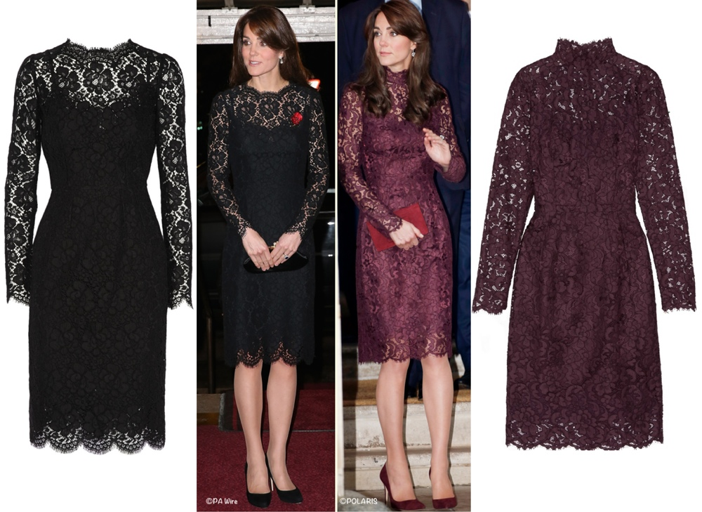 Kate D&G Dolce Lace Dtresses Black and Aubergine Side by Side PA Wire Polaris