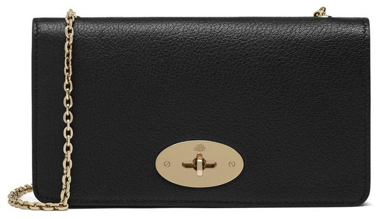 Mulberry Bayswater Black Leather Clutch