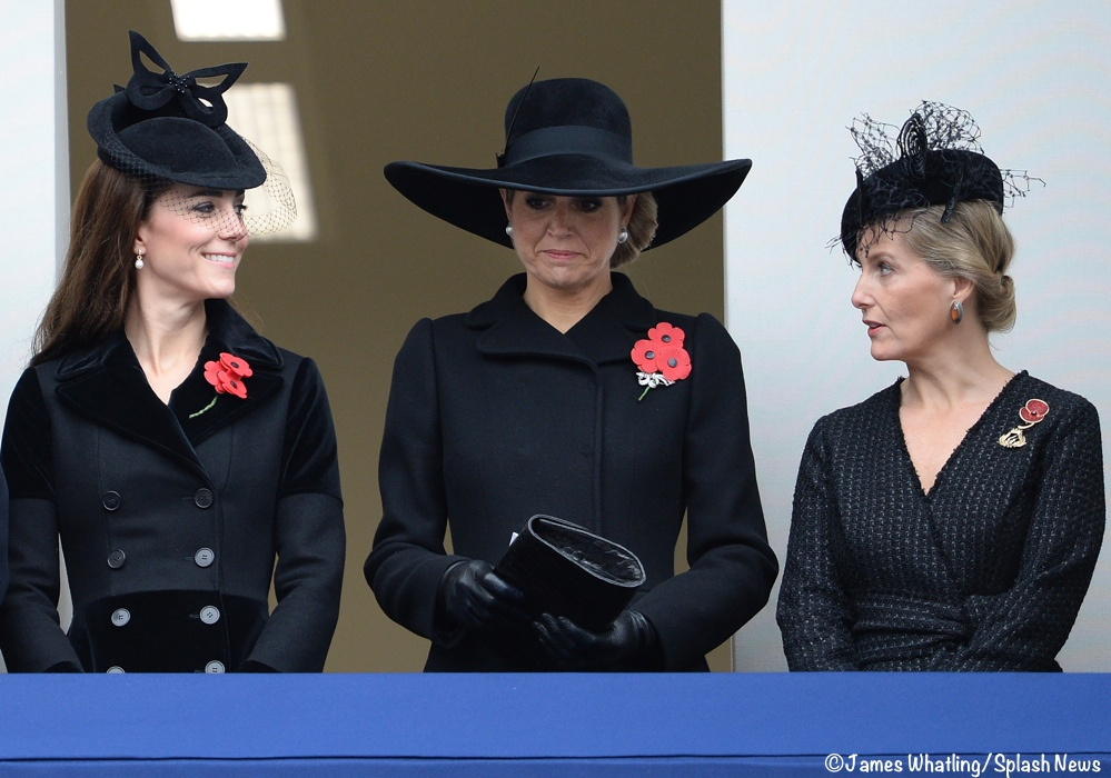 The Duchess, the Queen and the Countess at the morning's commemoration.