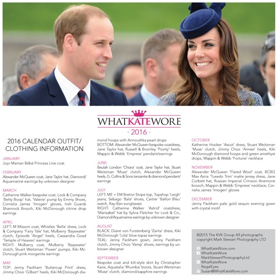 Kate 2016 Calendar Inside Back Cover with OUtfit Info 640 x 700