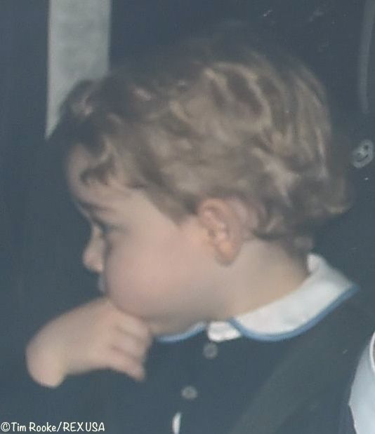 Prince George Arriving Queen's Christmas LunchDecember 16 2015 Rex Rookie