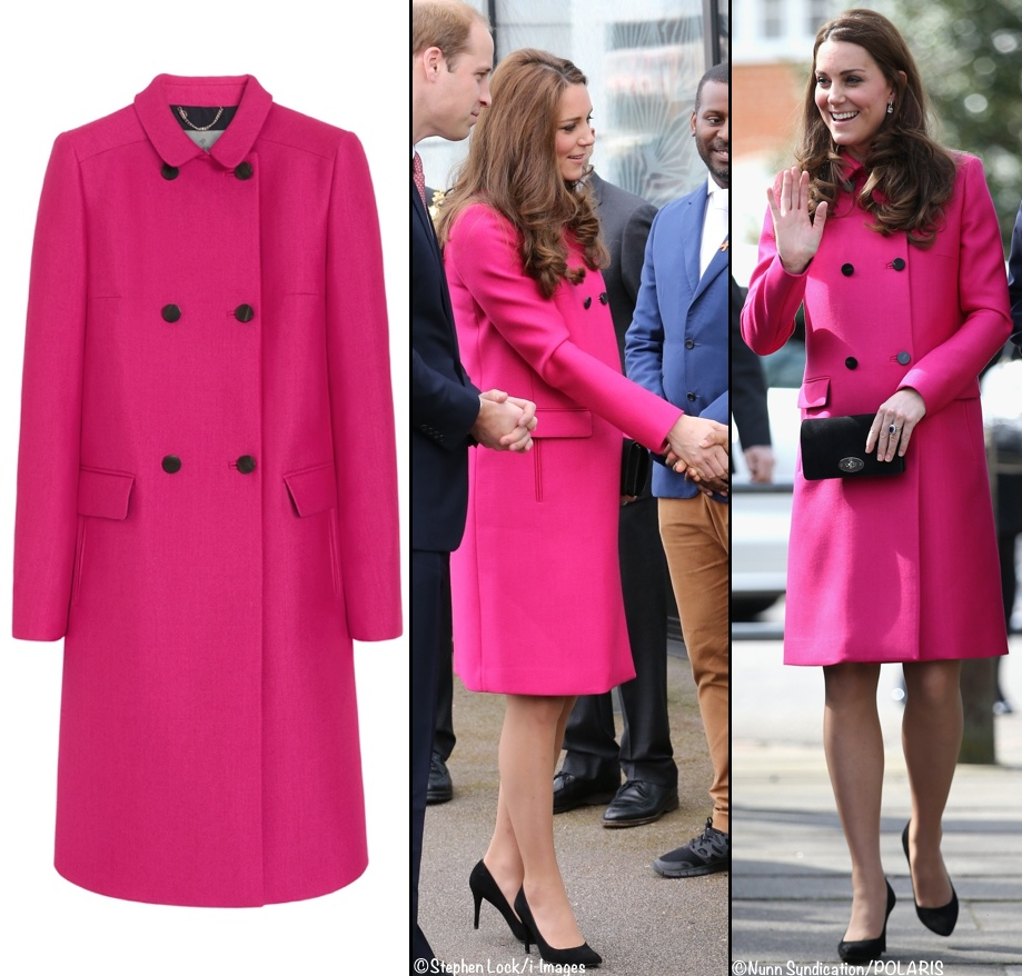 Cerise Pink Coat Fashion Women S Coat 2017