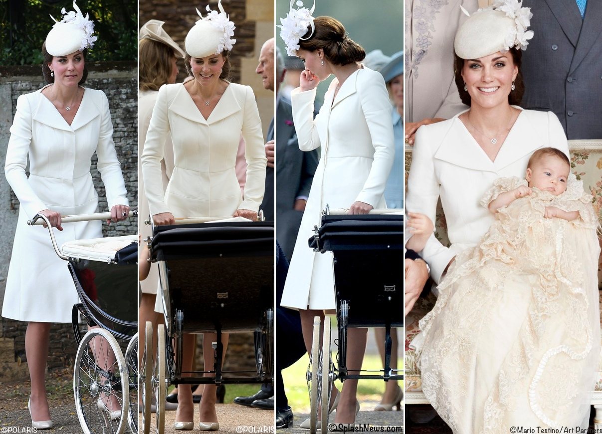 Kate Middleton McQueen Princess Charlotte Christening July 2015