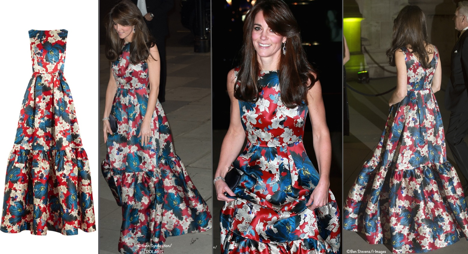 Kate Erdem Alouette Tiered Floral Gown October 27 2015 Montage