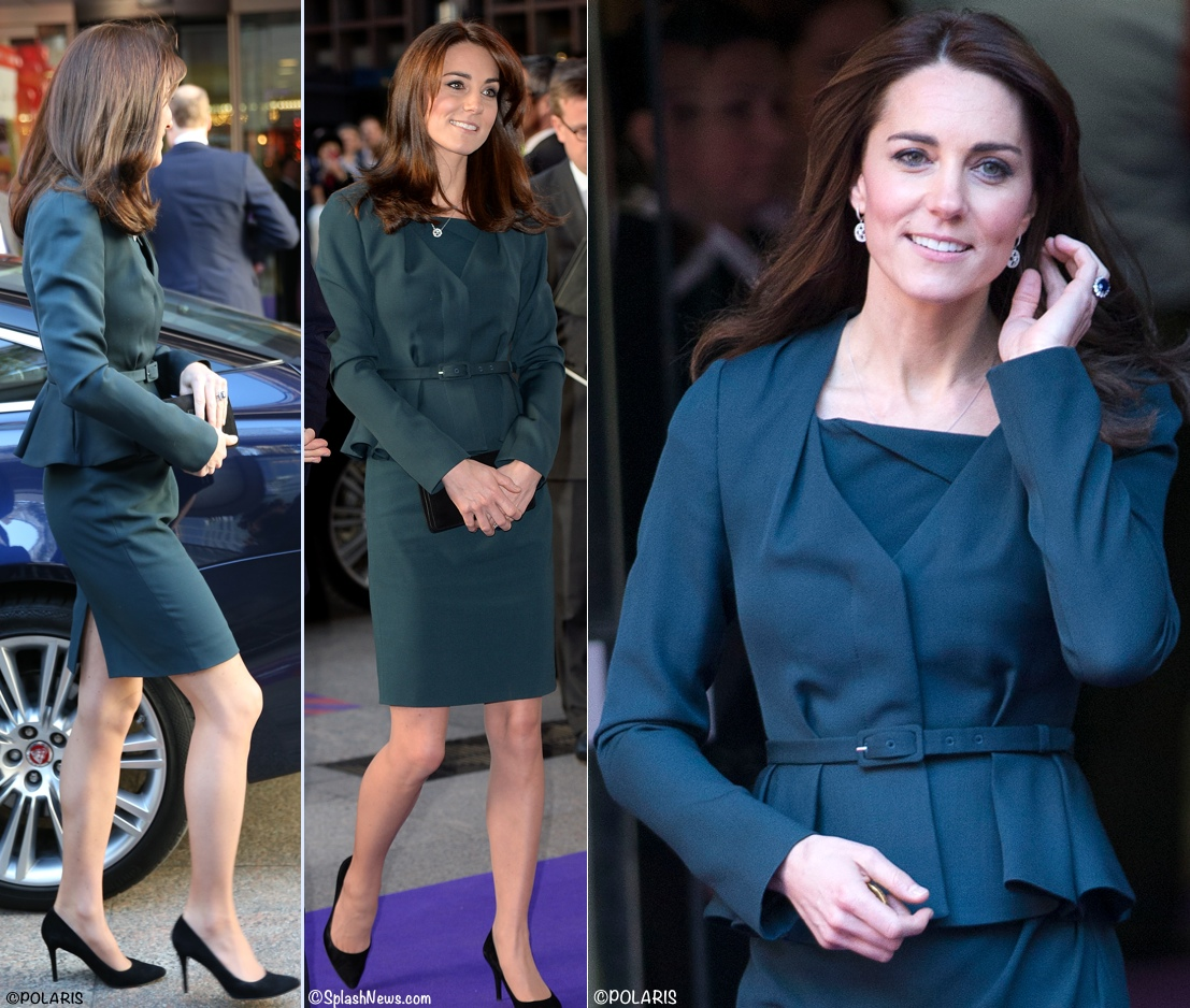 Kate Middleton LK Bennett Davina Jude outfit ICAP Charity Day