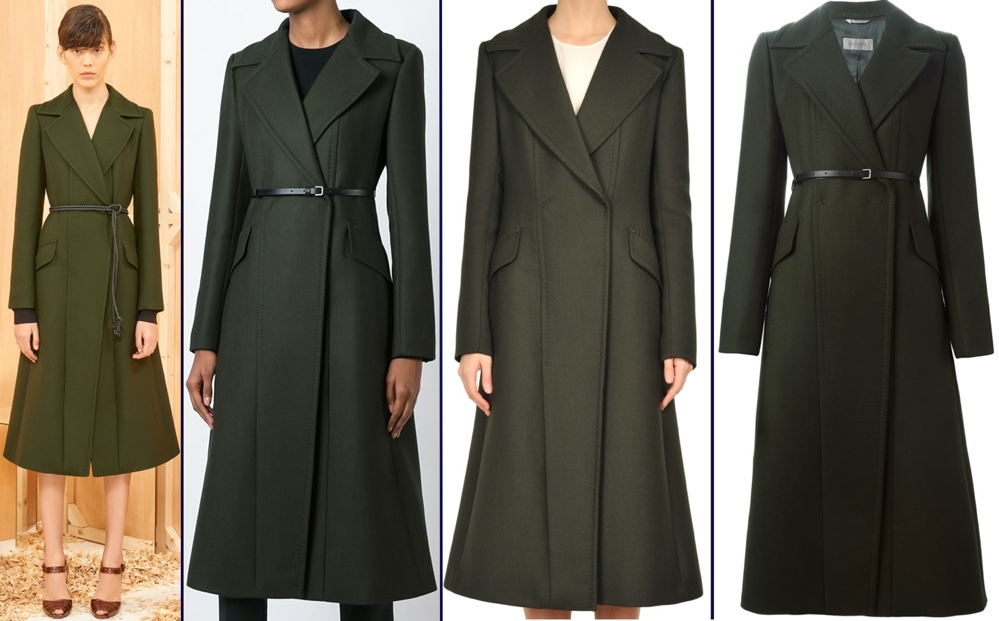 Sportmax Max Mara Green Coat Christmas Day and Edfinburgh Scotland Feb 24 2016 All Product Shots