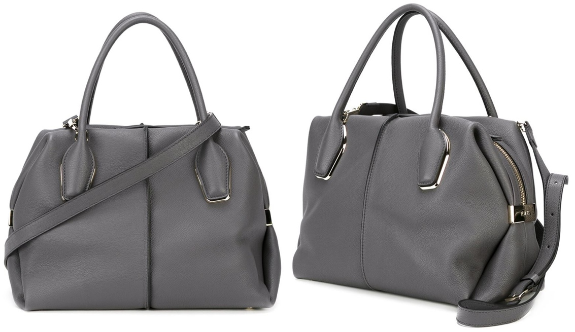 d5f5f718 Tods D Style Bow Bag Grey Medium Size Farfetch Dec 2015 What Kate Wore