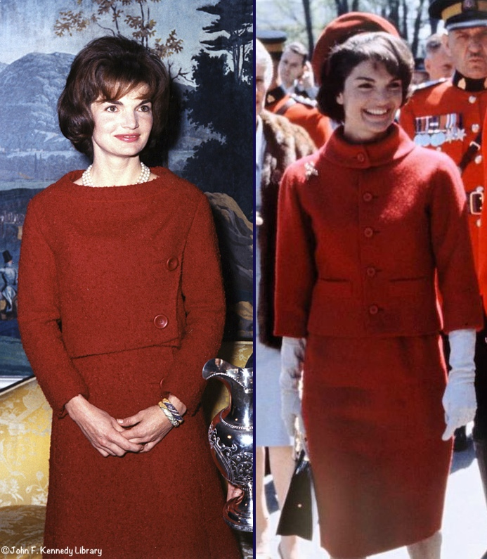 Jackie Kennedy Two 2 Red Suits March 11 2016 - What Kate Wore