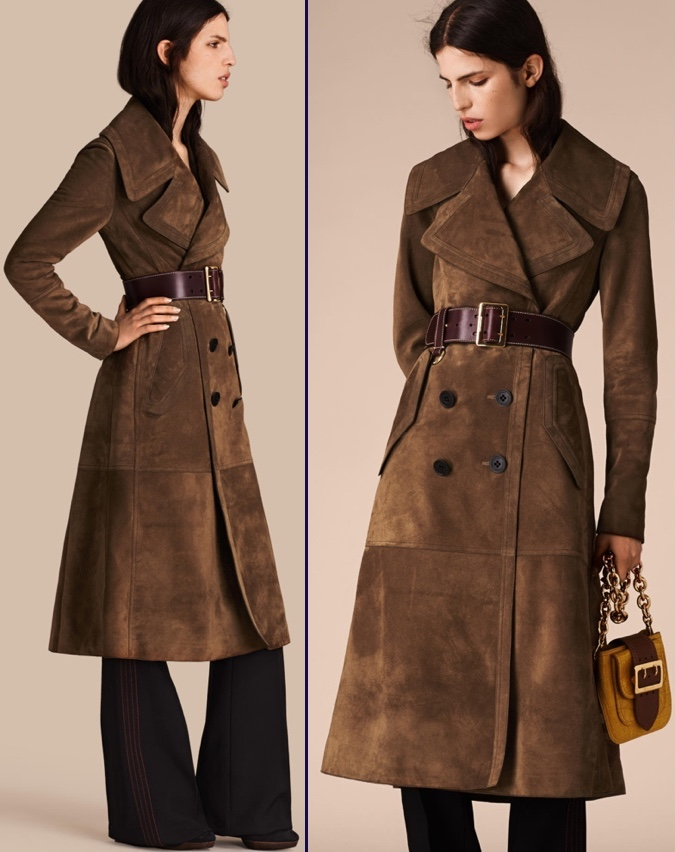 Kate British Vogue June 2016 Cover Burberry Brown Suede Coat 2 Shot Product Pix April 30 2016