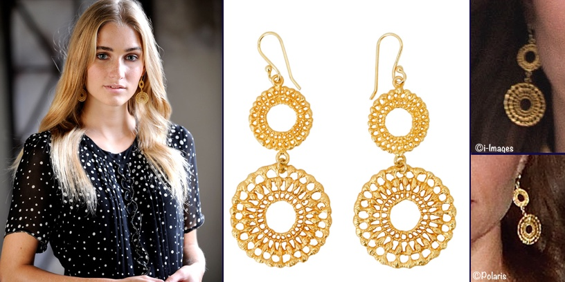 Kate Earrings Spiral Gold Plated Bhutan Arrival Dinner Brora April 15 2016