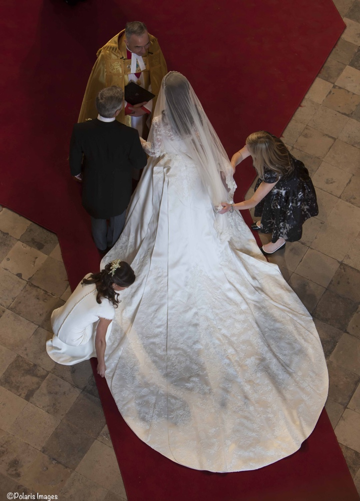 Kate Middleton Westminster Abbey Waves to Crowds Sarah Burton adjusts Wedding Gown